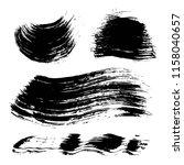 textured abstract black ink... | Shutterstock .eps vector #1158040657