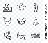 set of 9 transparent icons such ... | Shutterstock .eps vector #1158052021