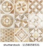 digital tiles design. abstract... | Shutterstock . vector #1158058531