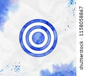 target watercolor icon.... | Shutterstock .eps vector #1158058867