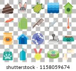 set of 20 transparent icons... | Shutterstock .eps vector #1158059674