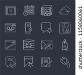 set of 16 icons such as phone...