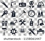 set of 20 transparent icons...   Shutterstock .eps vector #1158061447