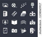 set of 16 icons such as musical ...