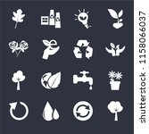 set of 16 icons such as tree of ...