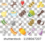 set of 20 transparent icons... | Shutterstock .eps vector #1158067207