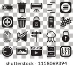 set of 20 transparent icons... | Shutterstock .eps vector #1158069394