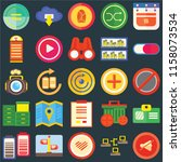 set of 25 icons such as mute ...