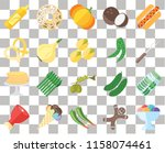 set of 20 transparent icons... | Shutterstock .eps vector #1158074461