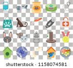 set of 20 transparent icons... | Shutterstock .eps vector #1158074581