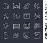 set of 16 icons such as image ...