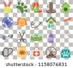 set of 20 transparent icons... | Shutterstock .eps vector #1158076831