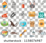 set of 20 transparent icons... | Shutterstock .eps vector #1158076987