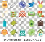 set of 20 transparent icons... | Shutterstock .eps vector #1158077131