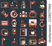 set of 25 icons such as flats ...