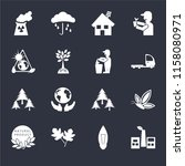 set of 16 icons such as eco...