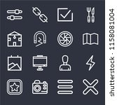 set of 16 icons such as cancel  ...