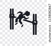 man practicing high jump vector ...   Shutterstock .eps vector #1158082867