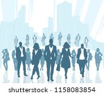 vector illustration of business ... | Shutterstock .eps vector #1158083854