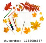 beautiful autumnal maple leaves ... | Shutterstock . vector #1158086557