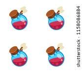 potion jar cartoon vector... | Shutterstock .eps vector #1158086884