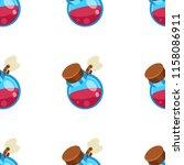 potion jar cartoon vector... | Shutterstock .eps vector #1158086911