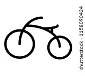 bicycle line icon. bike vector... | Shutterstock .eps vector #1158090424