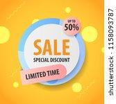 banner sale   promotion sale... | Shutterstock .eps vector #1158093787