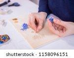 professional jewelry designer... | Shutterstock . vector #1158096151