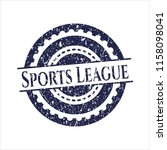 blue sports league distressed... | Shutterstock .eps vector #1158098041