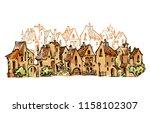 hand drawn sketch of cartoon... | Shutterstock . vector #1158102307