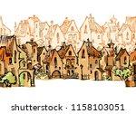 hand drawn sketch of cartoon... | Shutterstock . vector #1158103051