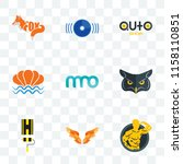 set of 9 transparent icons such ...   Shutterstock .eps vector #1158110851