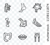 set of 9 transparent icons such ... | Shutterstock .eps vector #1158111874