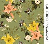 retro romantic soft and gentle... | Shutterstock .eps vector #1158112891