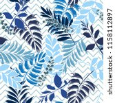 beautiful light monotone blue... | Shutterstock .eps vector #1158112897