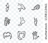 set of 9 transparent icons such ...   Shutterstock .eps vector #1158113461