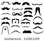 set of moustaches | Shutterstock . vector #115811359