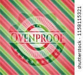 ovenproof christmas emblem. | Shutterstock .eps vector #1158115321