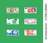 vector money   set of flat... | Shutterstock .eps vector #1158118681