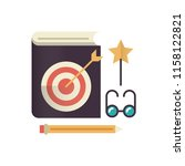 favorite lessons flat icon.   Shutterstock .eps vector #1158122821