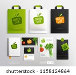 vector mockup set of paper... | Shutterstock .eps vector #1158124864