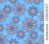 seamless oriental ornamental... | Shutterstock .eps vector #1158125317