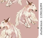 seamless patterin of dog. hand... | Shutterstock . vector #1158126394