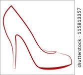 Woman's Shoe  Sketch