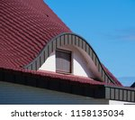curved dormer window of a newly ... | Shutterstock . vector #1158135034