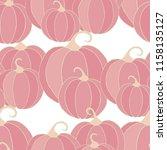 halloween background with... | Shutterstock .eps vector #1158135127