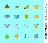 animal icons set. healthcare ... | Shutterstock .eps vector #1158138217