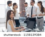 business team at workplace in... | Shutterstock . vector #1158139384