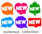 set tags new  banners design... | Shutterstock .eps vector #1158142321